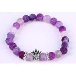 Náramek z kamenů Korunka Purple Stone