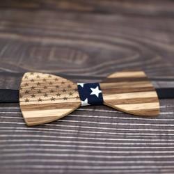 Dřevěný motýlek - AMERIKA