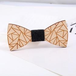Dřevěný motýlek Trojúhelníky