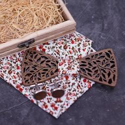 SET Dřevěný motýlek - kytice