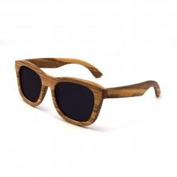 Dřevěné sluneční brýle - černé