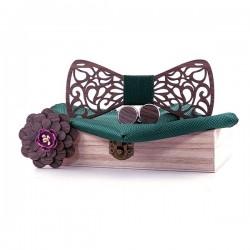 Dřevěný motýlek Smaragd