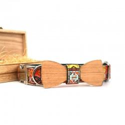 Dřevěný motýlek pro psa Boho